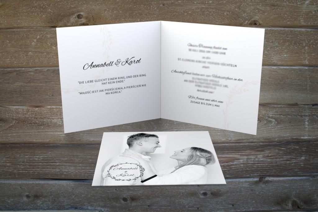 Hochzeitseinladung Design