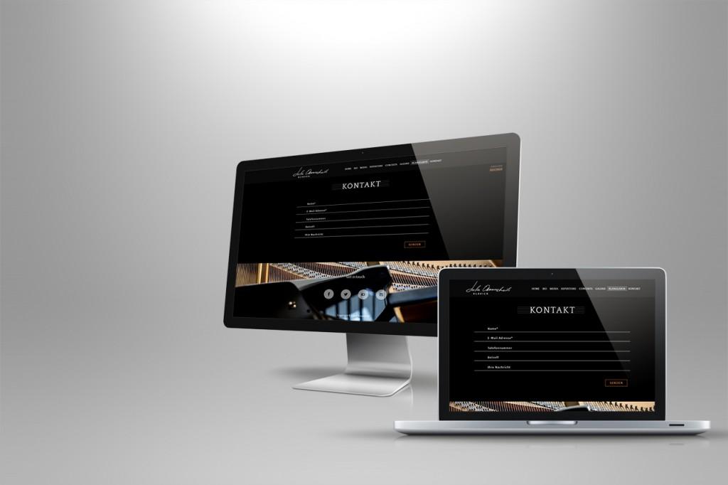Webseite Kontaktformular Minimal