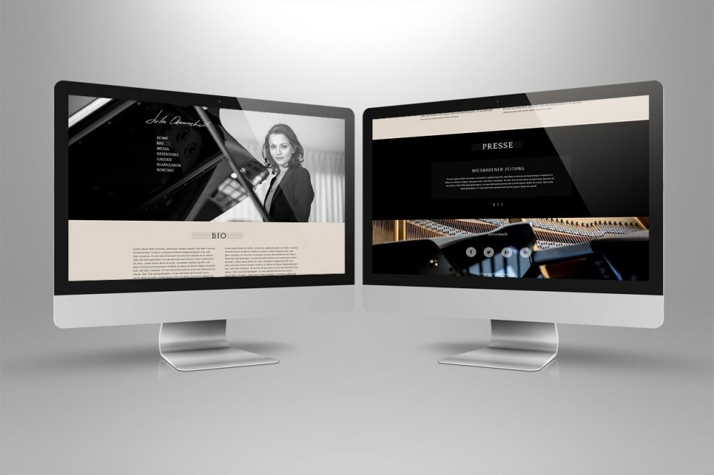 Webseite Musiker